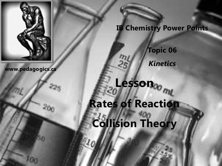 IB Chemistry Power Points                                 Topic 06                                 Kineticswww.pedagogics....