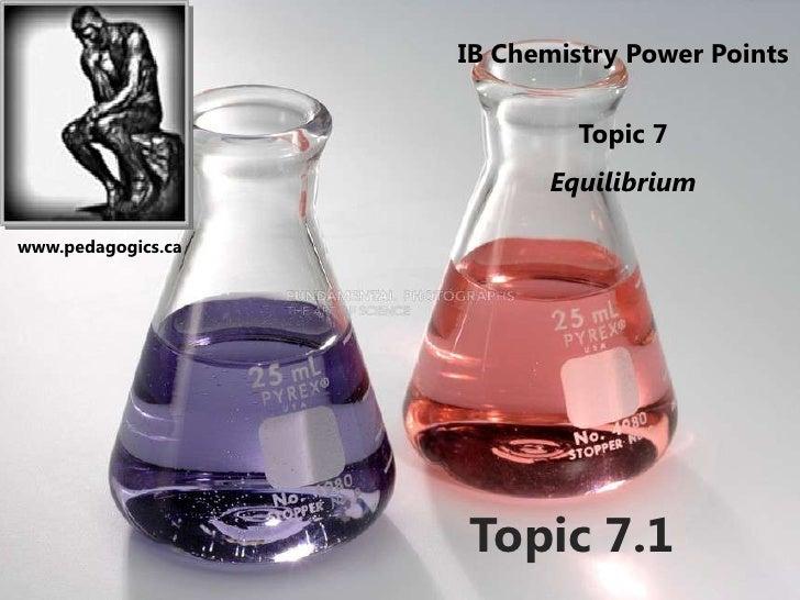 IB Chemistry Power Points                             Topic 7                          Equilibriumwww.pedagogics.ca       ...