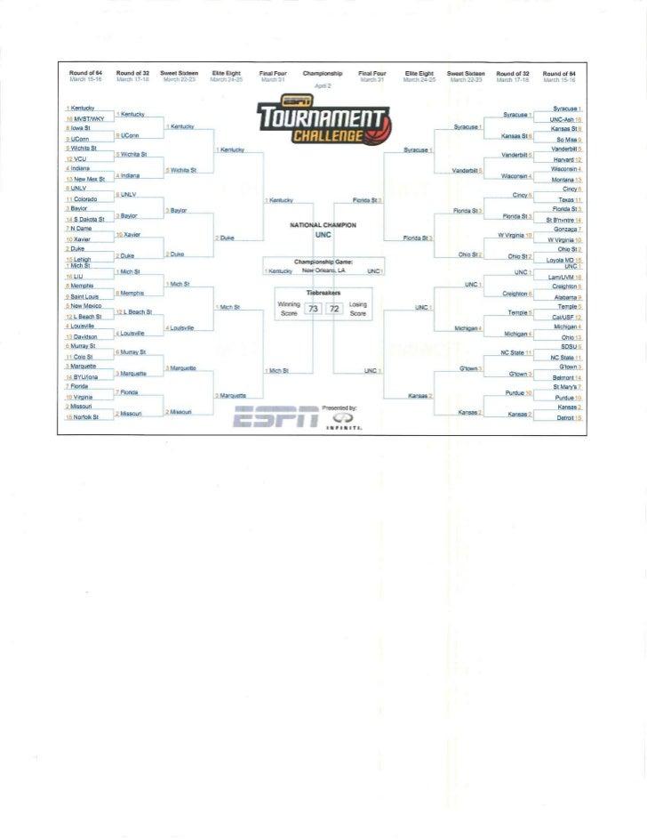 2012 NCAA Tournament Bracket