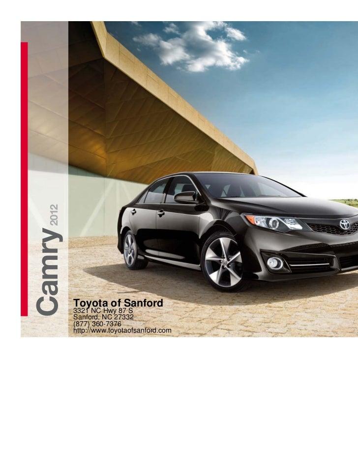 2012Camry         Toyota of Sanford         3321 NC Hwy 87 S         Sanford, NC 27332         (877) 360-7376         http...