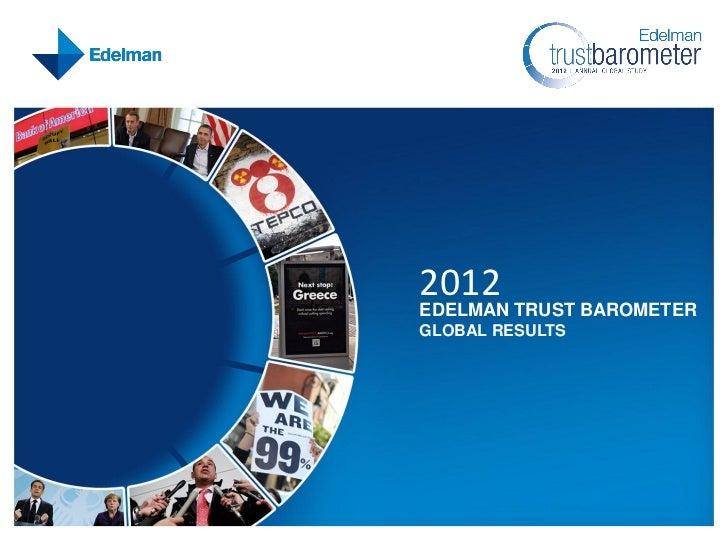 2012EDELMAN TRUST BAROMETERGLOBAL RESULTS
