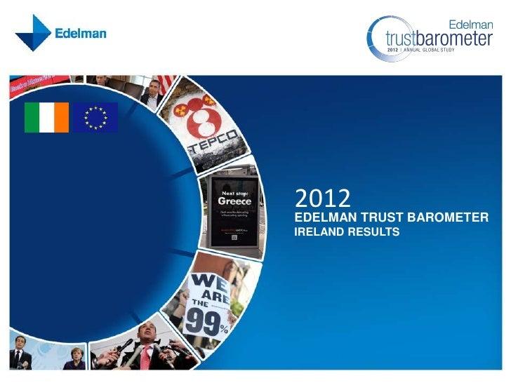 2012                                            EDELMAN TRUST BAROMETER                                            IRELAND...