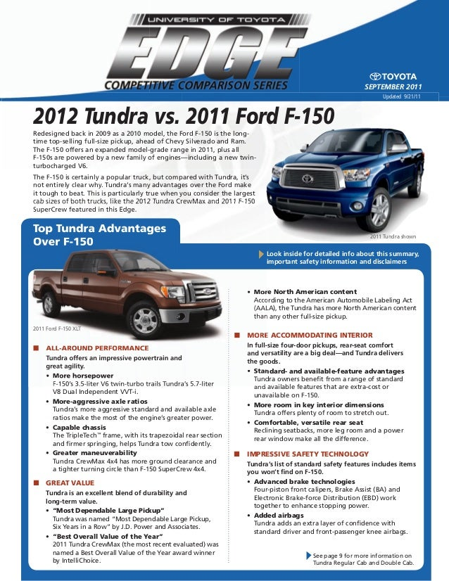 2012 tundra vs 2011 ford f 150 north hollywood toyota. Black Bedroom Furniture Sets. Home Design Ideas
