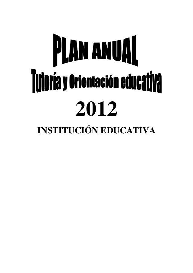 2012 INSTITUCIÓN EDUCATIVA