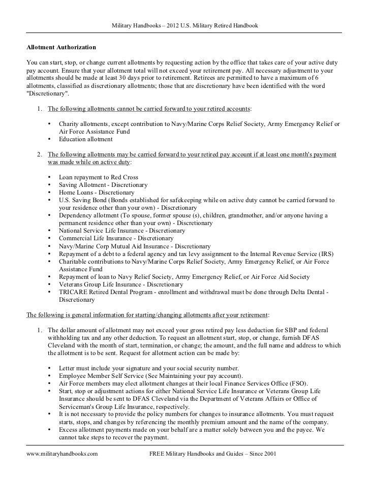 2012 u s military retired handbook rh slideshare net Georgia Clean Air Force Waiver air force waiver guide 2016