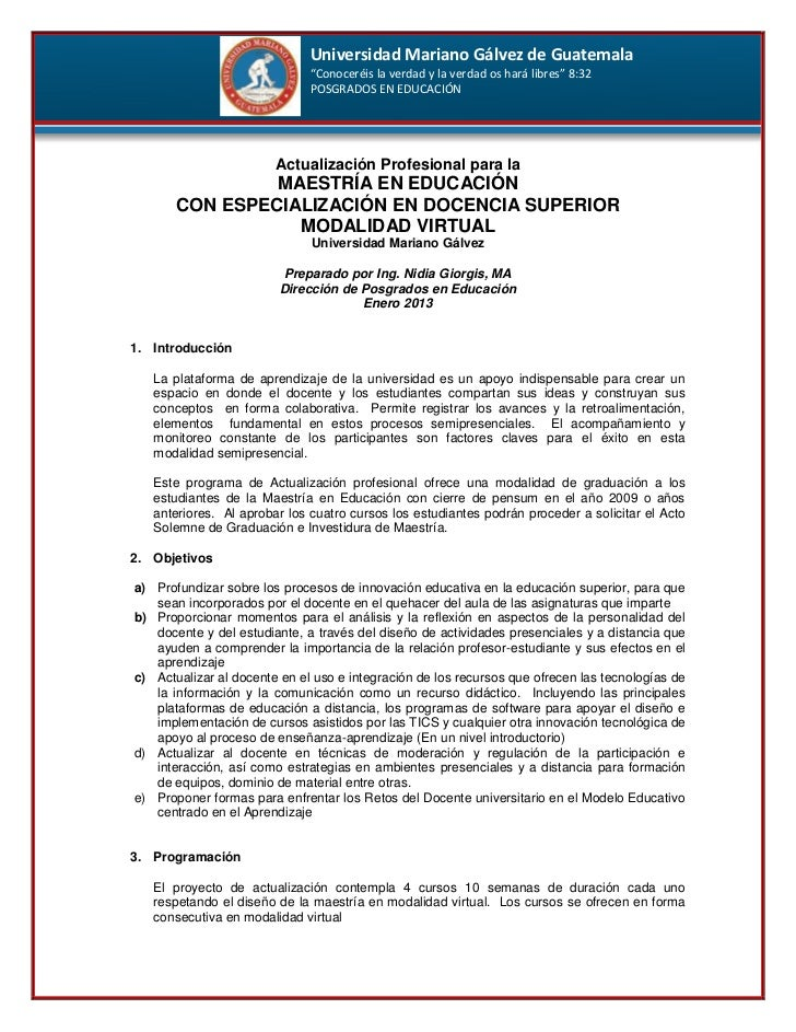 """Universidad Mariano Gálvez de Guatemala                              """"Conoceréis la verdad y la verdad os hará libres"""" 8:3..."""