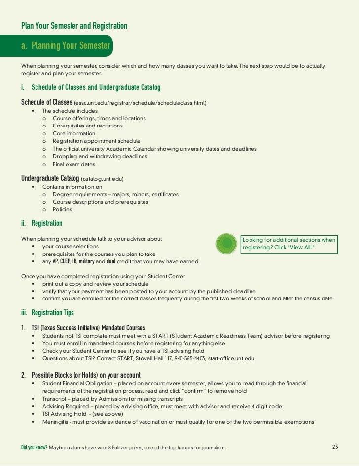 2012 Unt Advising Guidebook