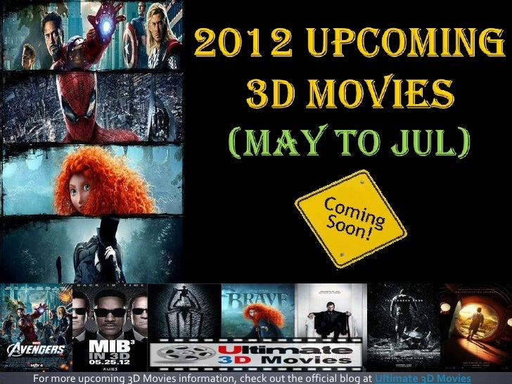 For more upcoming 3D Movies information, check out the official blog at Ultimate 3D Movies