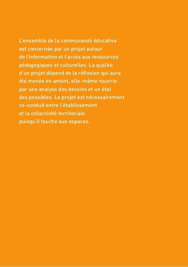 10 VERS DES CENTRES DE CONNAISSANCES ET DE CULTURE 1. ENGAGER UNE DÉMARCHE COLLECTIVE ET CONCERTÉE Pistes d'action n Déter...