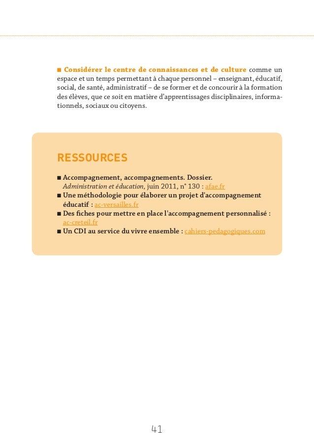 43 Pistes d'action n Constituer une offre adaptée de ressources éditées, équilibrée et com- plémentaire entre imprimé et n...