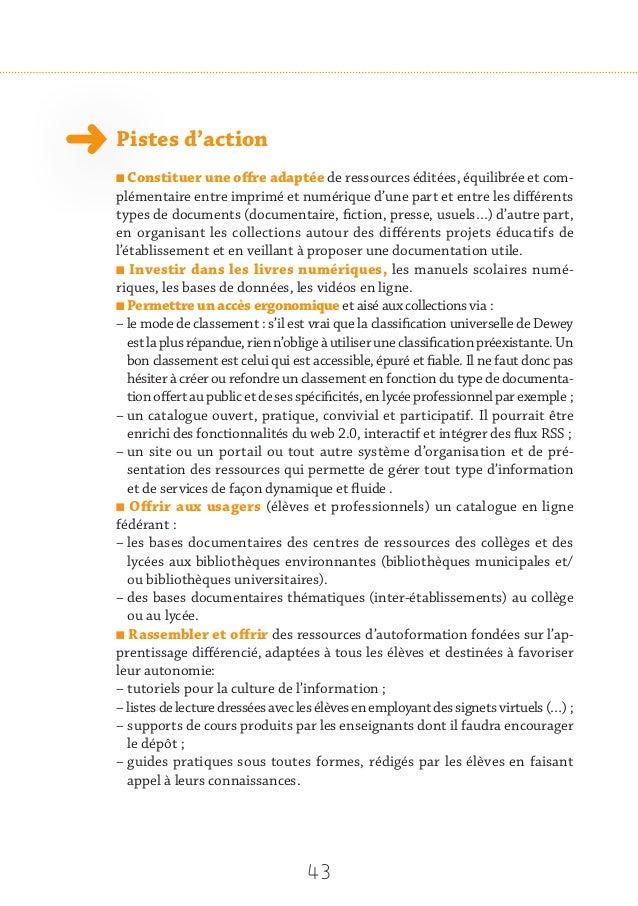 45 11 Repenser les ressources informatives en matière d'orientation Les parcours de formation des collégiens et des lycée...