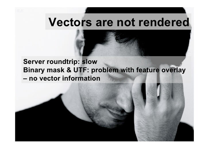 Vectors are not renderedServer roundtrip: slowBinary mask & UTF: problem with feature overlay– no vector information