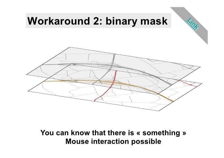 Workaround 2: binary mask  You can know that there is « something »        Mouse interaction possible