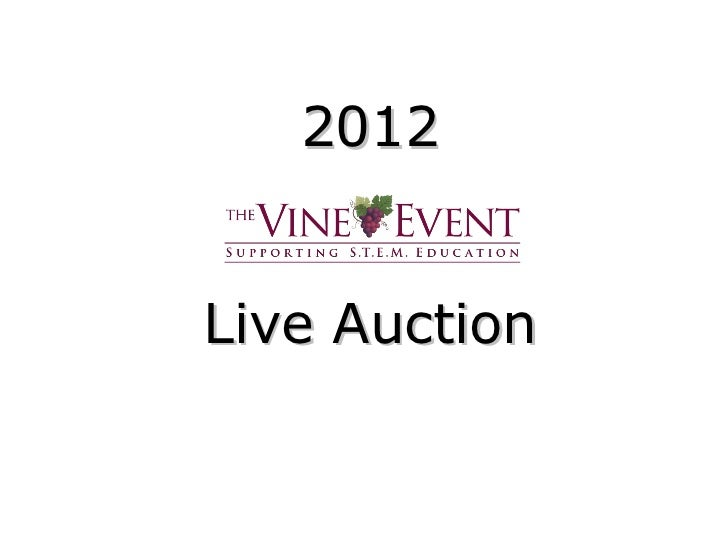 2012Live Auction