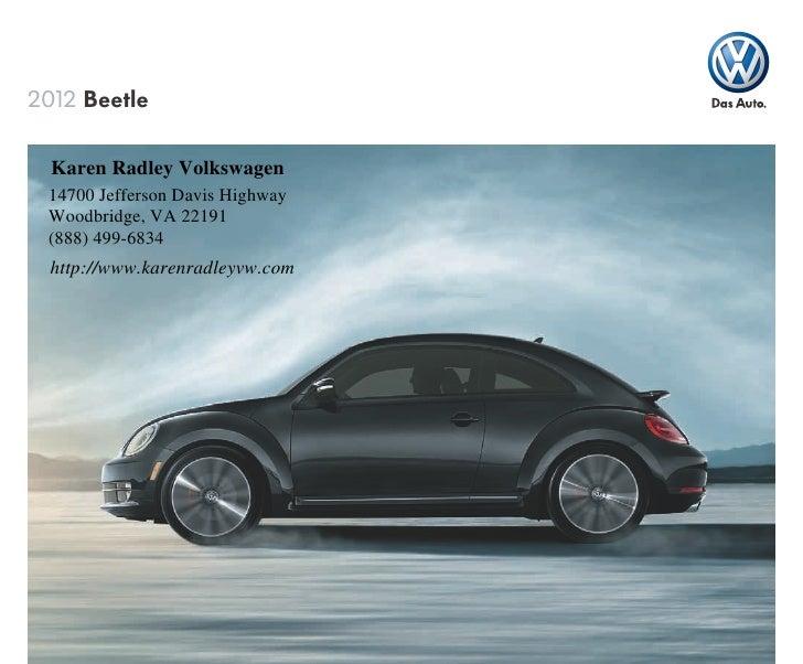 2012 Volkswagen Beetle For Sale Va Volkswagen Dealer