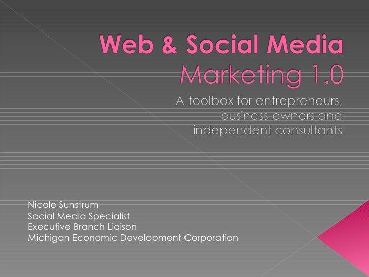 Nicole SunstrumSocial Media SpecialistExecutive Branch LiaisonMichigan Economic Development Corporation