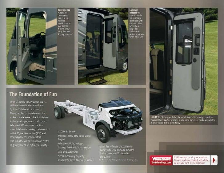 100 Via Class A Diesel Motor 2011 Via Class A