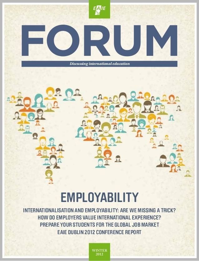 Discussing international education               employabilityInternationalisation and Employability: Are we missing a tri...