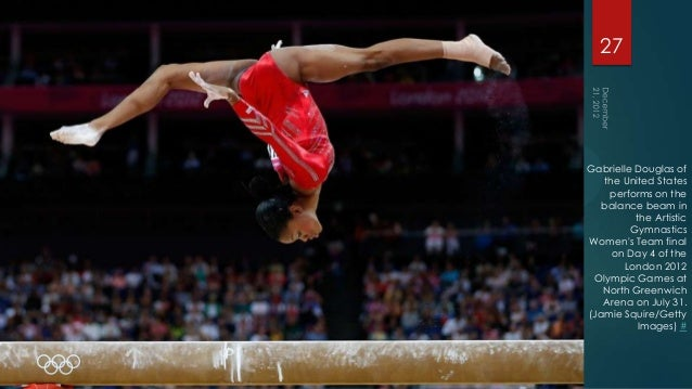 27Gabrielle Douglas of   the United States    performs on the   balance beam in          the Artistic         GymnasticsWo...