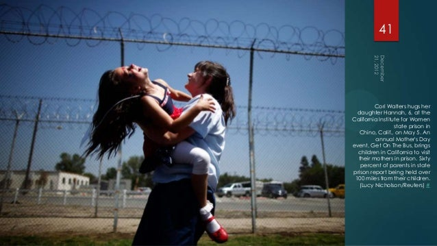 41         Cori Walters hugs her  daughter Hannah, 6, at theCalifornia Institute for Women                  state prison i...