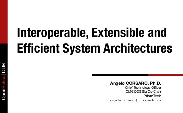 Interoperable, Extensible and                 Efficient System ArchitecturesOpenSplice DDS                                 ...
