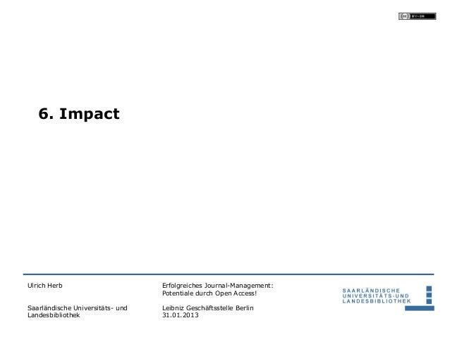6. ImpactUlrich Herb                       Erfolgreiches Journal-Management:                                  Potentiale d...