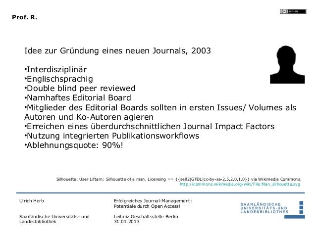 Prof. R.    Idee zur Gründung eines neuen Journals, 2003    •Interdisziplinär    •Englischsprachig    •Double blind peer r...