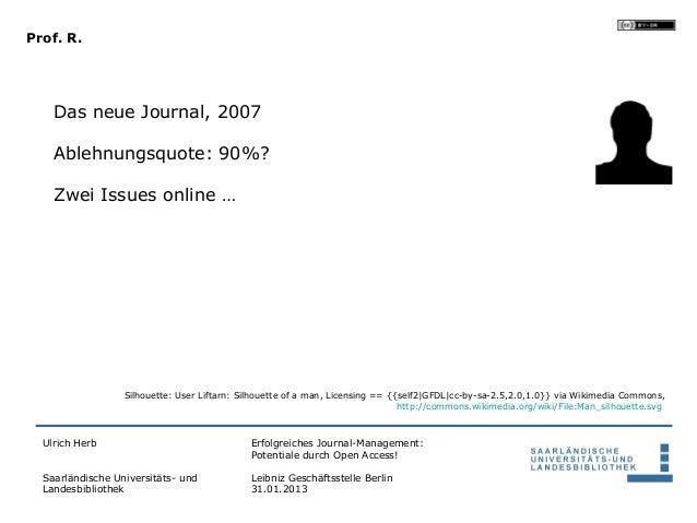 Prof. R.    Das neue Journal, 2007    Ablehnungsquote: 90%?    Zwei Issues online …                  Silhouette: User Lift...