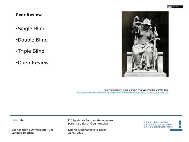 Peer Review   •Single Blind   •Double Blind   •Triple Blind   •Open Review                                                ...