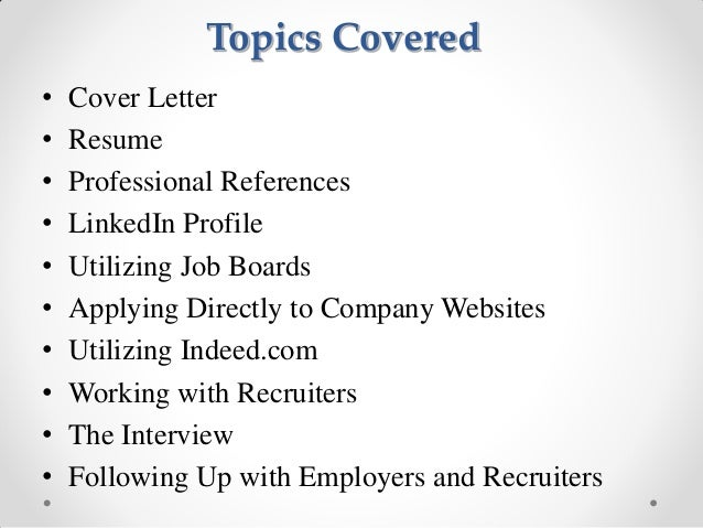 2013 01 how to conduct an effective job search