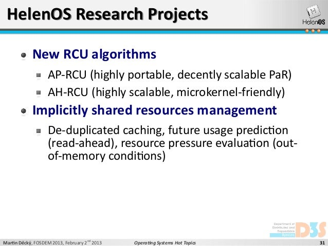 operating system research topics This course examines advanced research topics in the area of operating systems  we will read research papers that capture some of the.