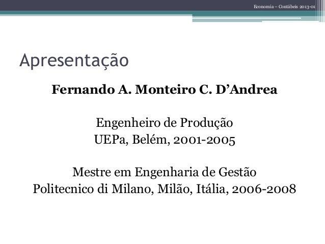 Introdução à Economia - Aula 01 Slide 2
