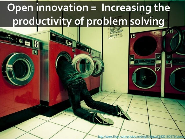 Open innovation = Increasing the productivity of problem solving                 http://www.flickr.com/photos/midnight-dig...