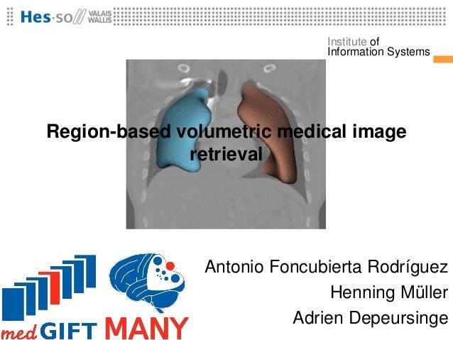 Institute of                              Information SystemsRegion-based volumetric medical image              retrieval ...