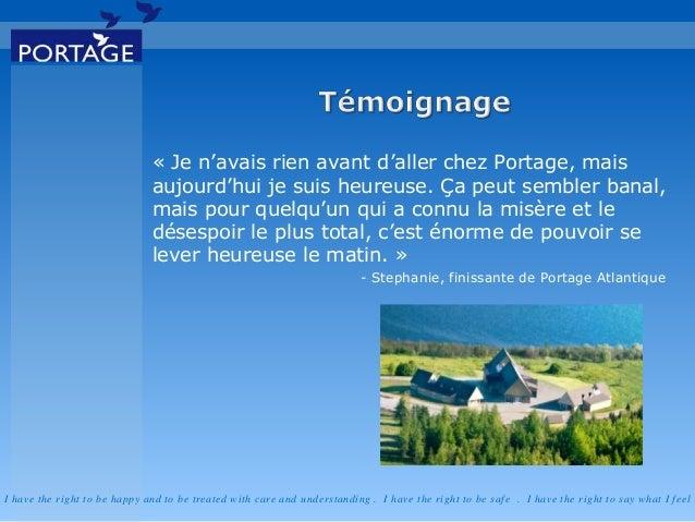 Réadaptation en toxicomanie pour adolescents - Portage Atlantique  Slide 2