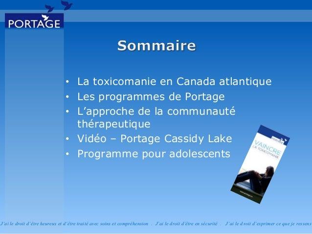 Réadaptation en toxicomanie pour adolescents - Portage Atlantique  Slide 3