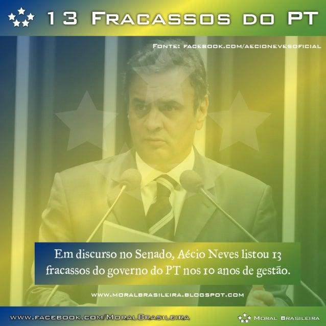 13 Fracassos do Governo PT - Discurso de Aécio Neves