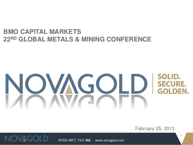 BMO CAPITAL MARKETS22ND GLOBAL METALS & MINING CONFERENCE                                                     February 25,...