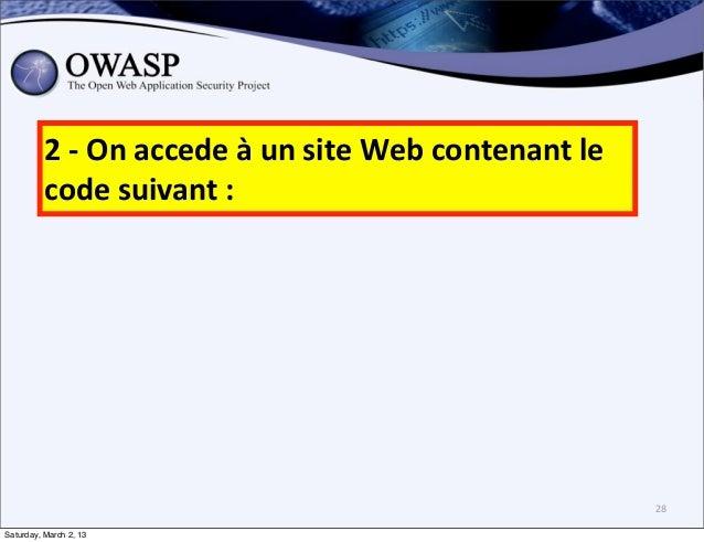 2 -‐ On accede à un site Web contenant le           code suivant :                               ...