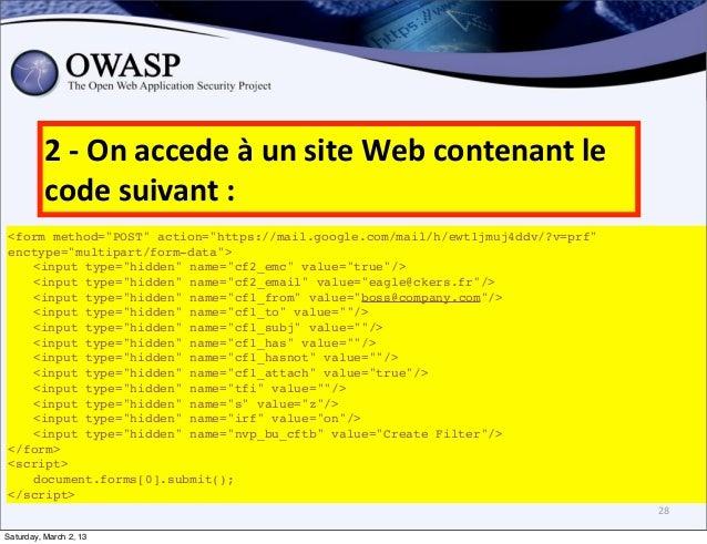 """2 -‐ On accede à un site Web contenant le           code suivant :<form method=""""POST"""" action=""""htt..."""