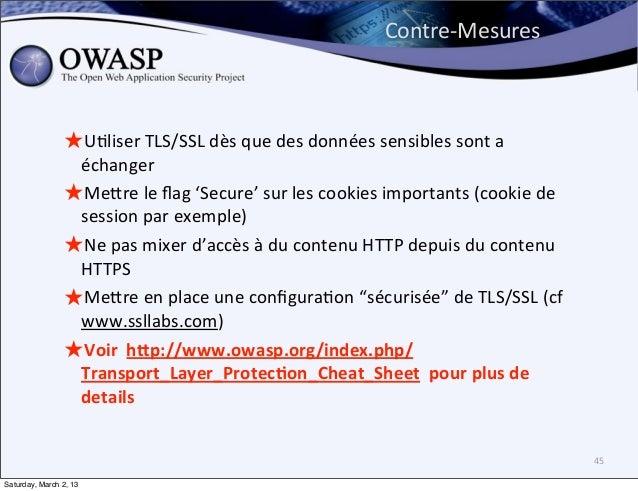 Contre-‐Mesures                ★U6liser TLS/SSL dès que des données sensibles sont a                  é...