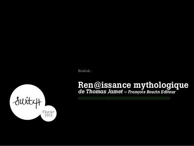 Booklub :                                                      Ren@issance mythologique                                   ...