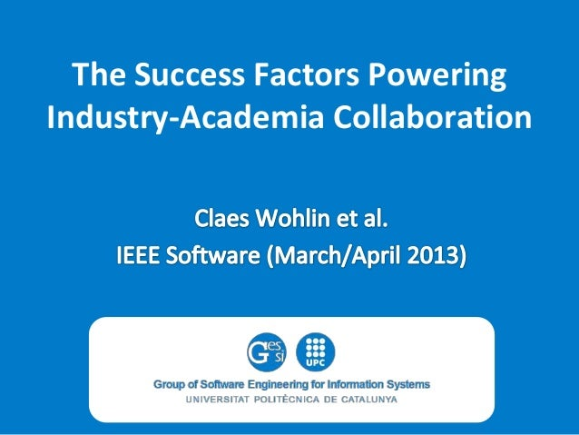 The Success Factors Powering Industry-Academia Collaboration