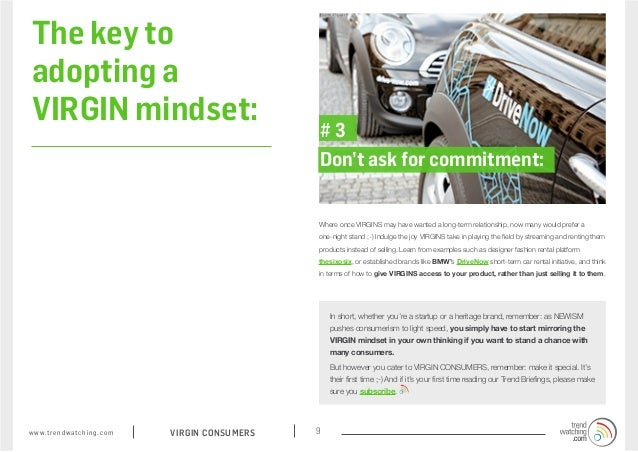 The key to adopting a VIRGIN mindset:                                                              #3                     ...