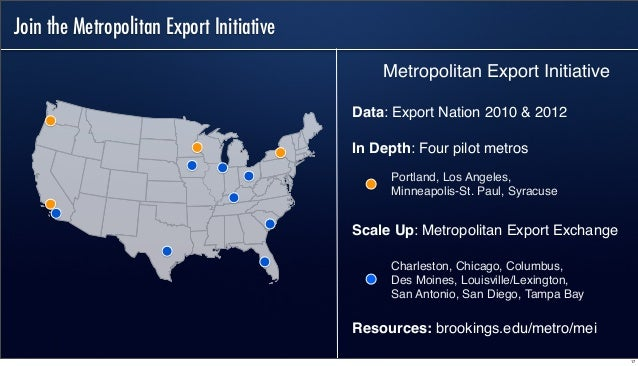 Chicago Selected by Brookings Institution for Distinguished Metropolitan Export Initiative