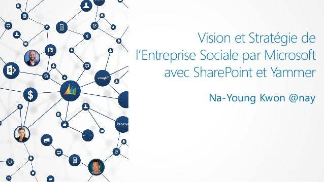 Vision et Stratégie del'Entreprise Sociale par Microsoft      avec SharePoint et Yammer             Na-Young Kwon @nay