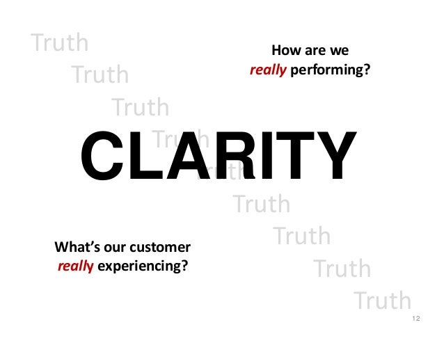 Truth                           How are we                             really performing?    Truth           Truth        ...