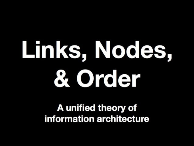 Links, Nodes, & Order