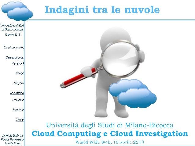 Davide Gabrini, Cloud computing e cloud investigation