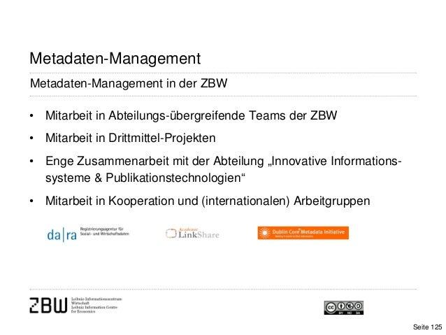 • Mitarbeit in Abteilungs-übergreifende Teams der ZBW• Mitarbeit in Drittmittel-Projekten• Enge Zusammenarbeit mit der Abt...